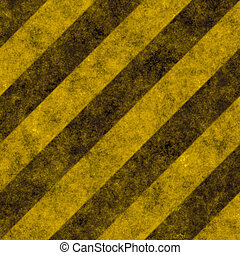 Warning Texture With Black and Yellow Stripes