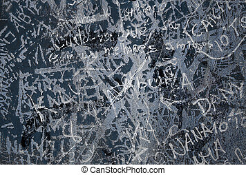 Grunge Background I - Grunge background with graffiti and...