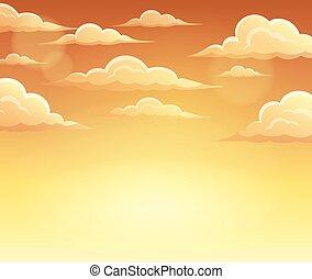 Autumn sky theme background 2