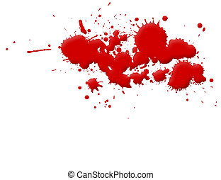Blood Stain - Illustration of blood splashes and stains over...