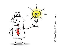 Joe presents an idea - Joe the businessman is very...