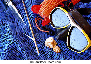 Dive Gear - Details of scuba-diving and spear-fishing gear...