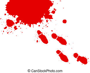 Bloody Feet - Illustration of blood splashes and foot prints...