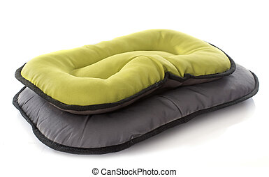dog bed in front of white background