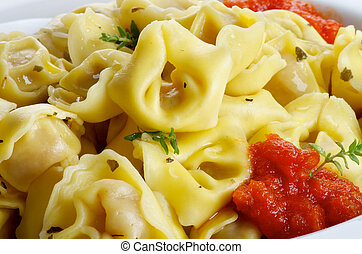 Meat Cappelletti - Delicious Meat Cappelletti with Tomatoes...
