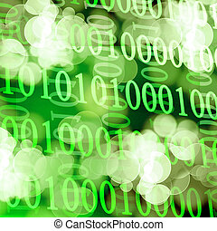 bits and bytes on a soft green background