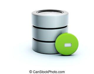 3d delete storage icon isolated on white