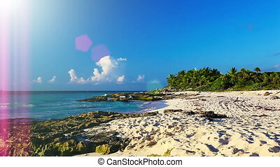 Picturesque Coast - Picturesque coast of the Caribbean sea....