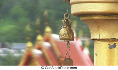 Buddhist Temple - Small bronse buddhist bell, that is...