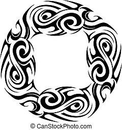 Maori style tattoo - Maori ethnic tattoo template