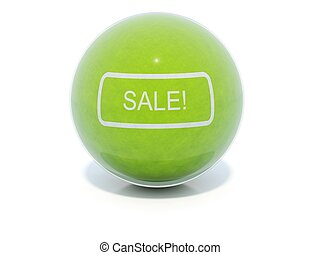 Green glossy sale icon