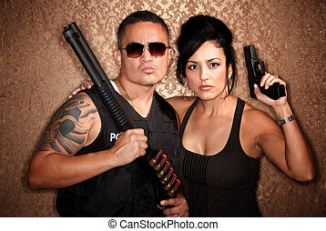 Undercover Cops - Attractive male and female undercover cops...