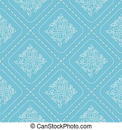 Seamless background with celtic art and ethnic ornaments for...