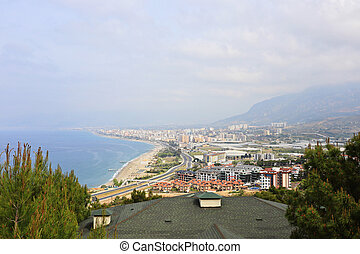 Alanya - The beautiful town of Alanya near the Mediterranean...