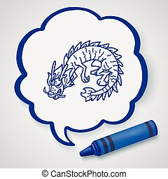 Chinese dragon doodle