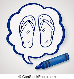 Flip flop doodle