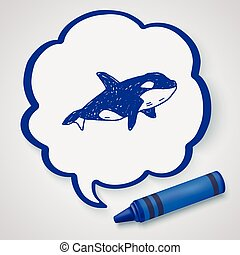 Killer Whale doodle