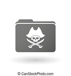 Isolated binder with a pirate skull