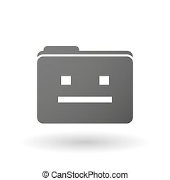 Isolated binder with a emotionless text face