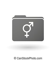 Isolated binder with a transgender symbol - Illustration of...