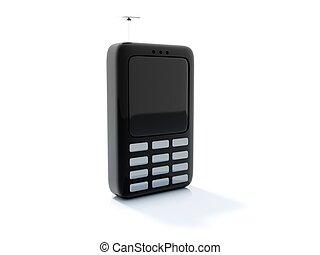 Black telephone icon isolated on white