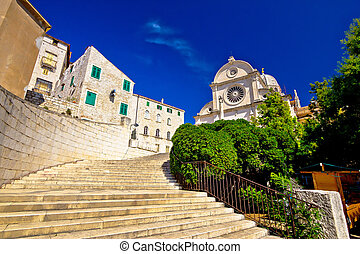 St James cathedral in Sibenik, UNESCO world heritage site in...