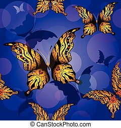 Seamless pattern - Seamless pattern with butterflies and...