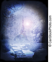 narnia palace - frozen palace in snowy land