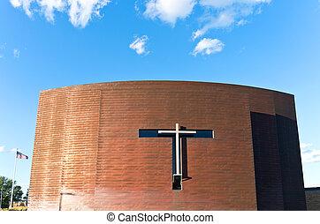 Copper Clad Chapel Exterior and Cro - copper clad chapel...