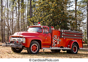 Antique Firetruck - An old vintage antique firetruck ready...