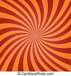 Red orange twisted background - Red and orange twisted ray...