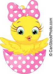 Chicken - Image cartoon chicken in an egg