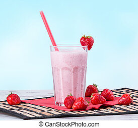 milk shake - Fresh milk shake with fruits. Milk product
