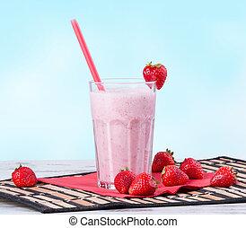 milk shake - Fresh milk shake with fruits. Milk product