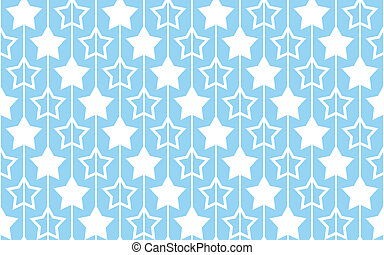 Seamless pattern with stars on blue background.