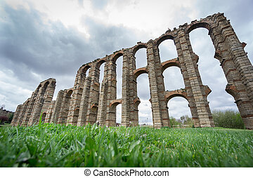 Aqueduct of the Miracles in Merida, Spain, UNESCO -...