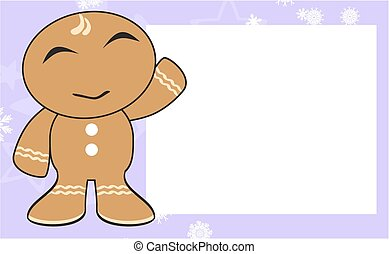xmas gingerbread kid cartoon5 - xmas gingerbread kid cartoon...