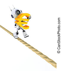 Robot on a tight rope