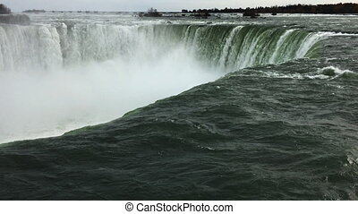 Horseshoe Falls at the brink - The Horseshoe Falls at the...