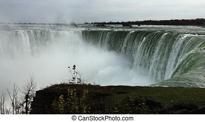 Horseshoe Falls at Niagara Falls at the brink