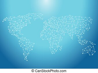 Welt-Kontakte.eps - Blue Background