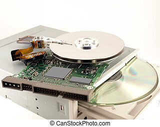 Details for hard drives and CD-ROM