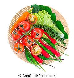 Vegetable on white background
