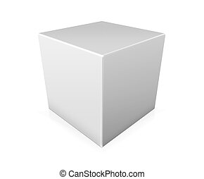 Illustration of paper box on white background -...