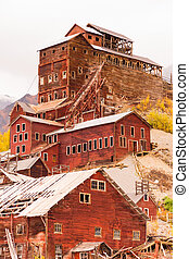 Wrangell St Elias Kennecott Mines Concentration Mill Alaska...