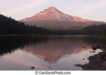 Mt Hood Smooth Reflection Trillium Lake Oregon Territory