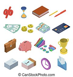 icons for business - Isometric icons for business...