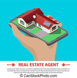 real estate isometric concept