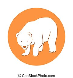 White bear symbol - This is a vector illustration of White...
