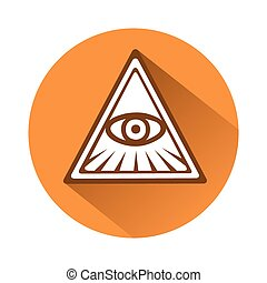 eye of providence symbol - This is an illustration of an eye...